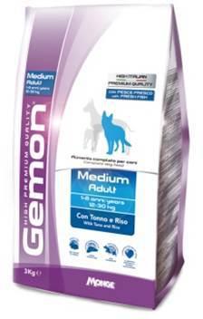 Gemon Adult Medium Breed Tuna сухой корм для взрослых собак средних пород с тунцом