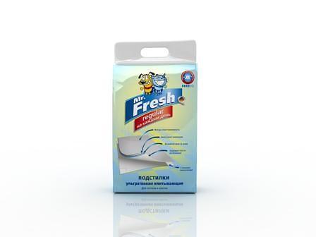 Mr. Fresh Regular подстилки для ежедневного применения, 90х60 см