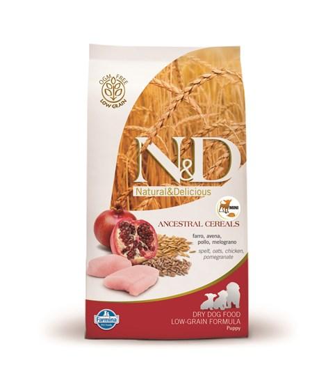 Farmina N&D Low Grain Puppy Small Breeds Chicken&Pomegranate низкозерновой сухой корм для щенков мелких пород с курицей и гранатом