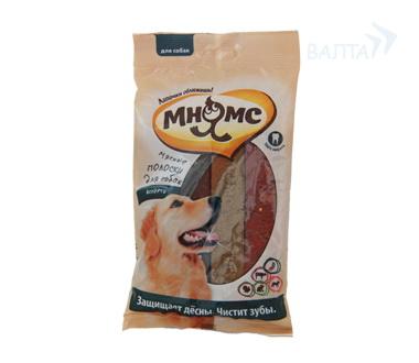"""Мнямс """"Мясные полоски для собак ассорти"""", 12 шт.х 10 гр"""