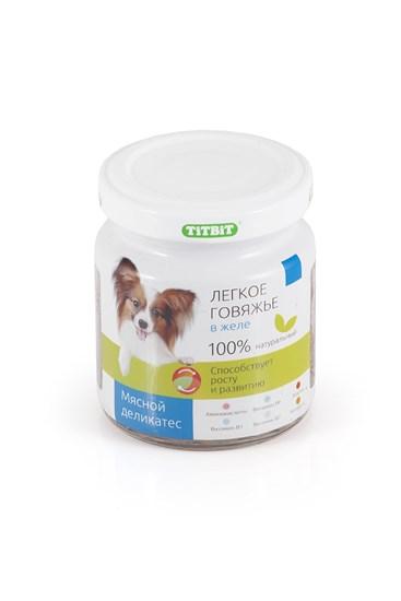 TiTBiT консервы для собак мелких пород с говяжим легким в желе 100гр