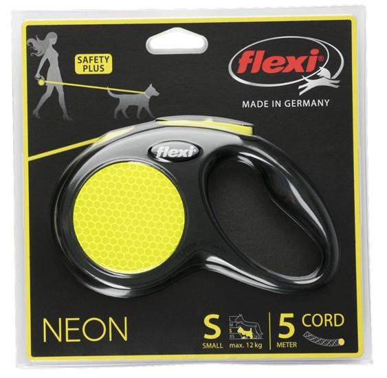 Поводок-рулетка Flexi New Neon cord S, 5 м