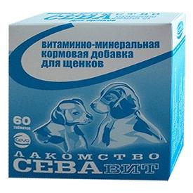 Севавит для щенков в таб., витаминно-минеральный комплекс