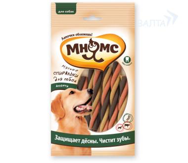 """Мнямс """"Мясные спиральки для собак ассорти"""", 6 шт х 20 гр"""