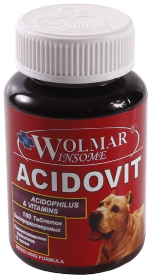 Wolmar Winsome Acidovit в таб., ацидофильный комплекс для собак