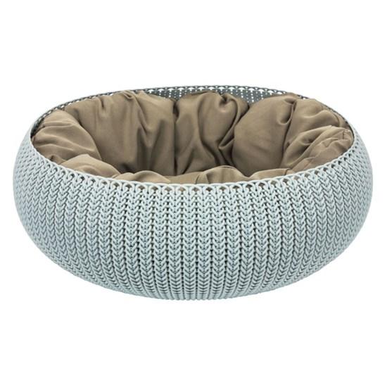 Curver Knit пластиковая лежанка с подушкой для животных