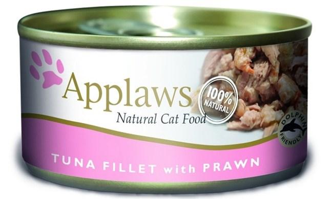 Applaws консервы для кошек всех возрастов с тунцом и креветкой 70гр