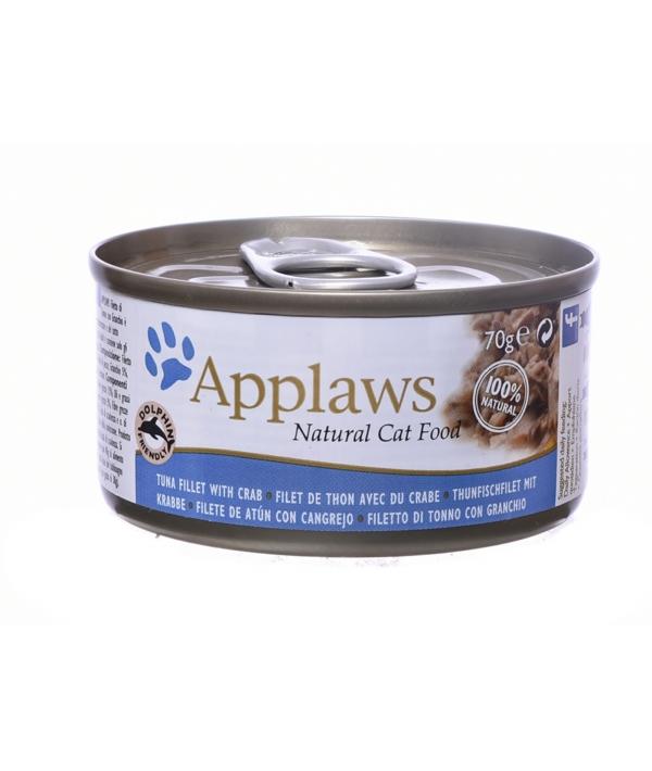 Applaws консервы для кошек всех возрастов с тунцом и крабом 70гр
