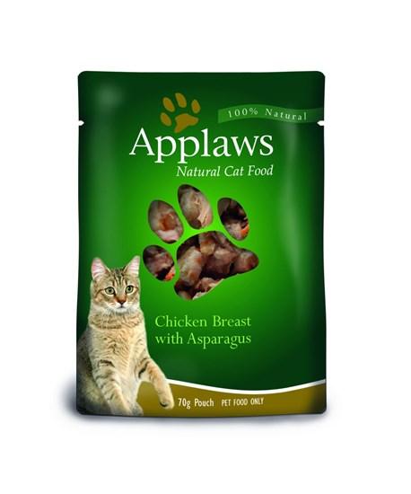 Applaws пауч для кошек всех возрастов с курицей и спаржей 70г