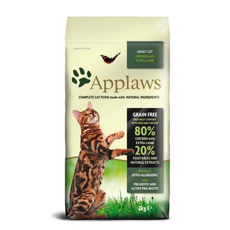 Applaws Grain Free Adult Chicken&Lamb беззерновой сухой корм для взрослых кошек с курицей и ягненком
