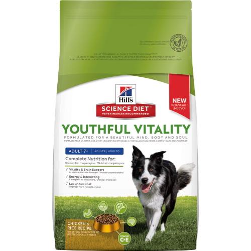 Hill`s Senoir Youthful Vitality Chicken сухой корм для пожилых собак всех пород юность с курицей