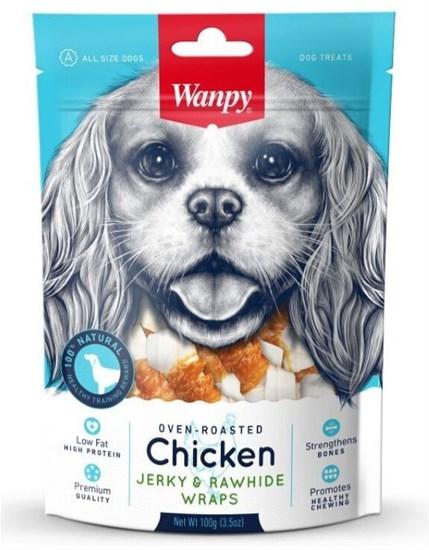 Wanpy Dog кости из сыромятной кожи с куриным мясом, 100 гр