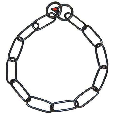 HS рывковая цепь с длинным звеном из черной нержавеющей стали , 63 см