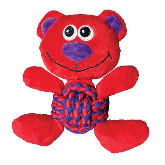 KONG игрушка для собак Weave Knots Мишка, средний