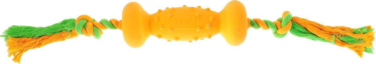 Hartz игрушка для собак Гантель латекс с наполнителем, большая 7,5см*35см