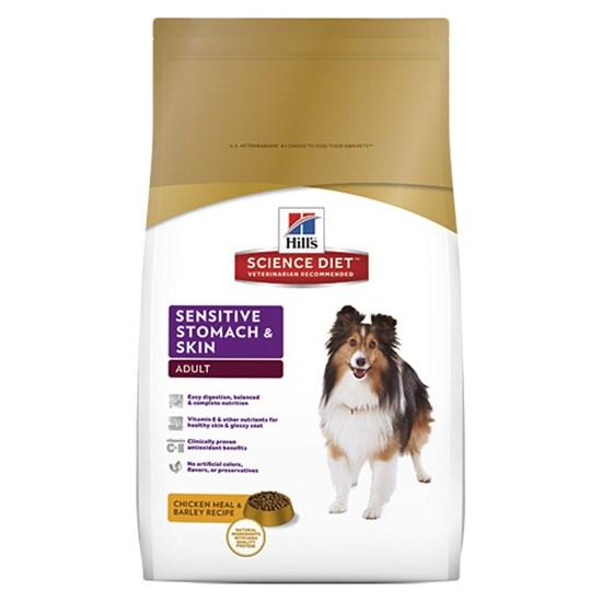 Hill`s Adult Sensitive Stomach&Skin Chicken сухой корм для взрослых собак всех пород с чувствительным пищеварением и кожей с курицей 12 кг