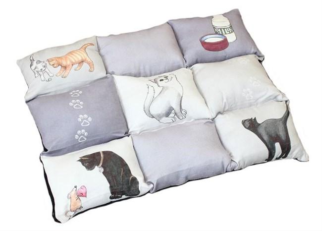 Подстилка Patchwork Cat, серый