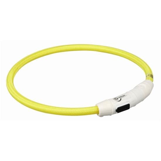 Мигающее кольцо для собак USB, желтый