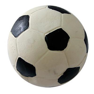 Мажор Игрушка д/собак Мяч футбольный с пищалкой 12см латекс