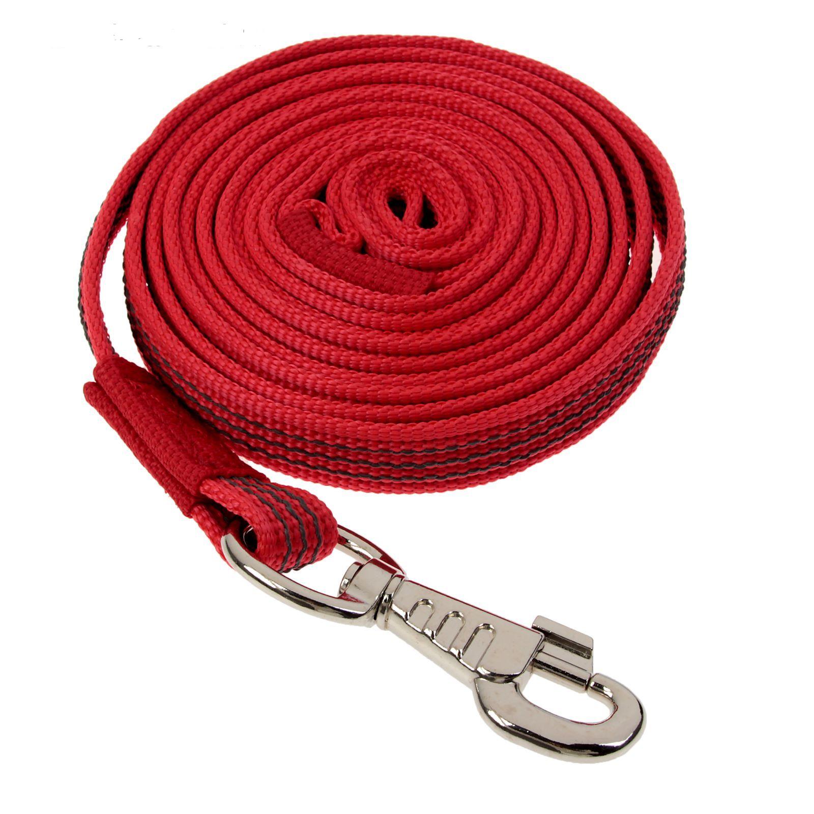 Каскад Поводок нейлон с латексной нитью двусторонний 20мм*3м красный