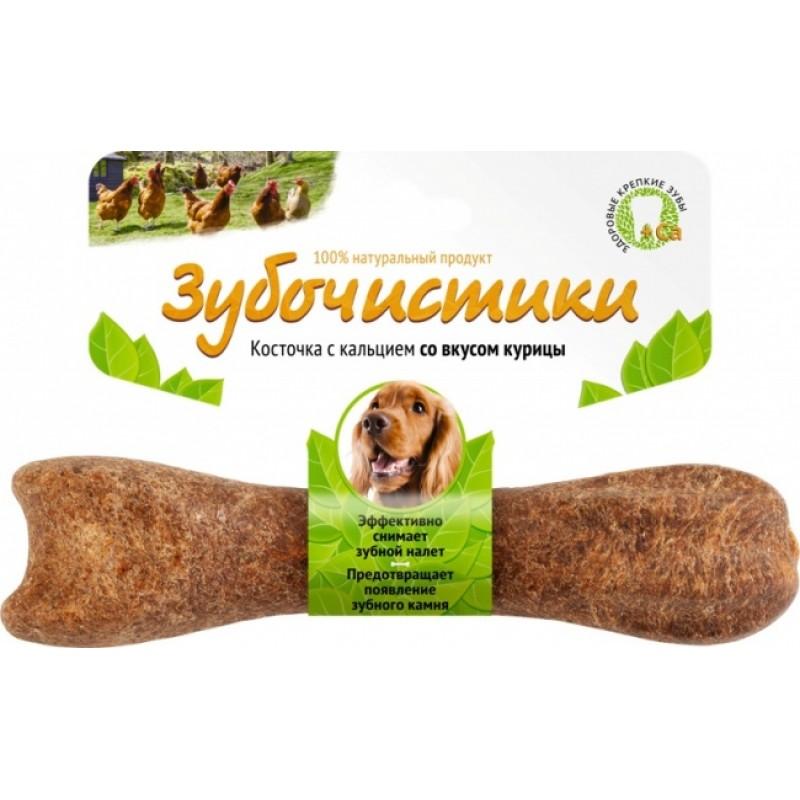 Зубочистики лакомство для собак средних пород жевательная косточка с курицей 1 шт