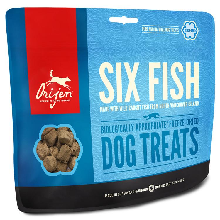 Orijen Six Fish Dog treats 42,5г лакомство для собак 6 рыб