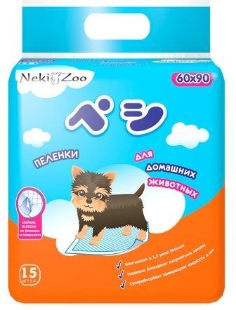 """Пеленки для домашних животных """"NekiZoo"""", впитывающие одноразовые, L, 1 шт"""