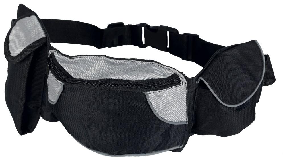 Трикси Баджи Белт Сумка на пояс, ремень 62-125см черный,серый