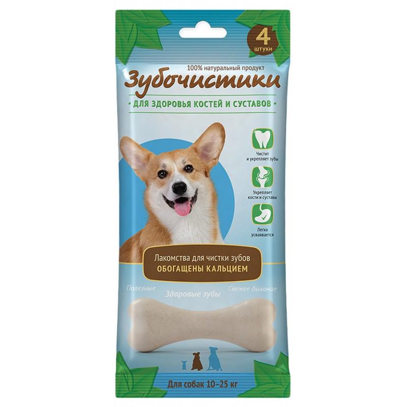 Зубочистики Кальциевые лакомство для собак средних пород с кальцием 90г