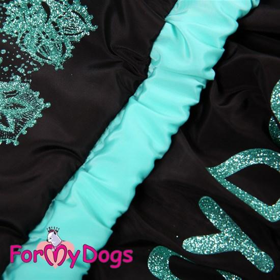 ForMyDogs Дождевик черно/голубой, для девочек
