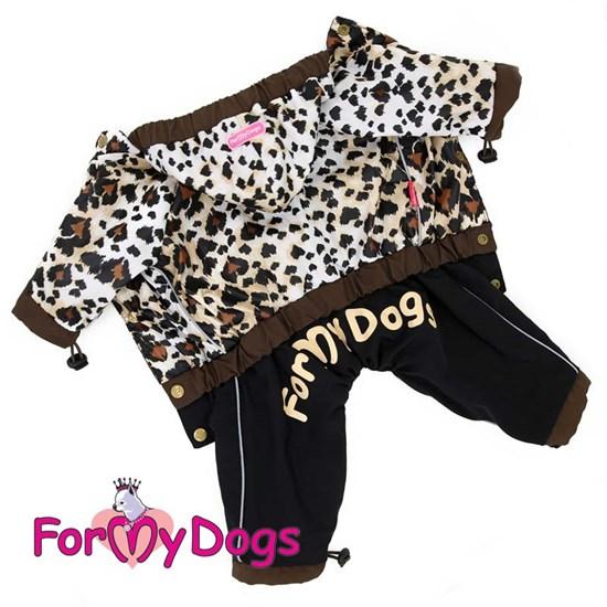 """ForMyDogs Дождевик """"Лео"""" коричневый, для девочек"""