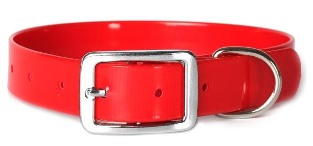 Каскад Ошейник из биотана 20мм*30-40см красный