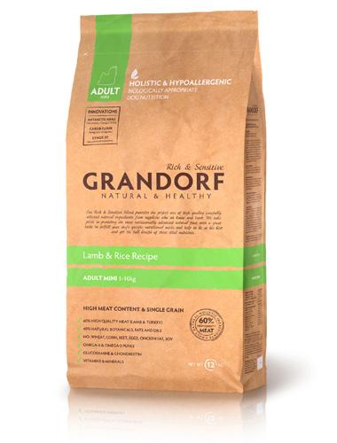 Grandorf Adult Mini Lamb & Brown Rice сухой корм для взрослых собак мелких пород с ягненком
