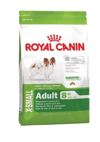 Royal Canin Adult 8+ X-Small 500г сухой корм для пожилых собак миниатюрных пород старше 8 лет