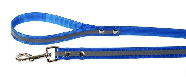 Каскад Поводок нейлон светоотражающий 10мм*120см синий
