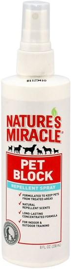 Nature's Miracle Block Repellent отпугивающий спрей для собак 236мл