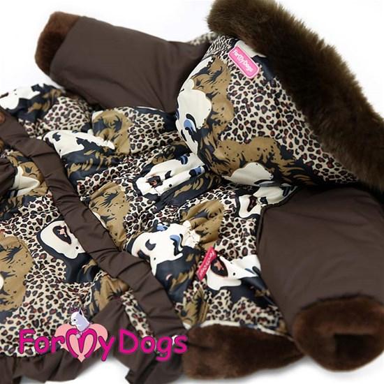 Куртка коричневая для девочек, р-р 18
