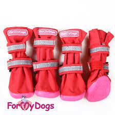ForMyDogs 5 сапоги РП красные