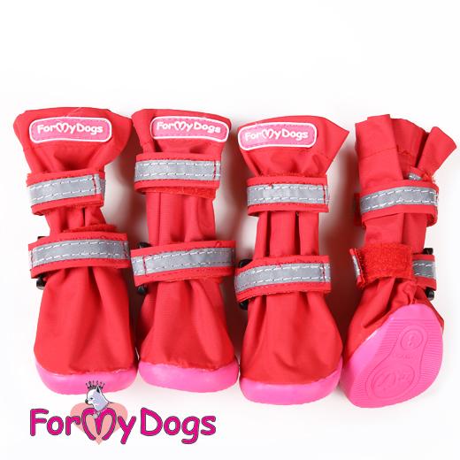 ForMyDogs 6 сапоги РП красные