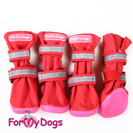 ForMyDogs 7 сапоги РП красные