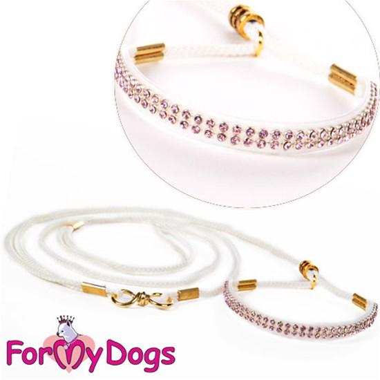Ринговка белая/розовая кристаллы