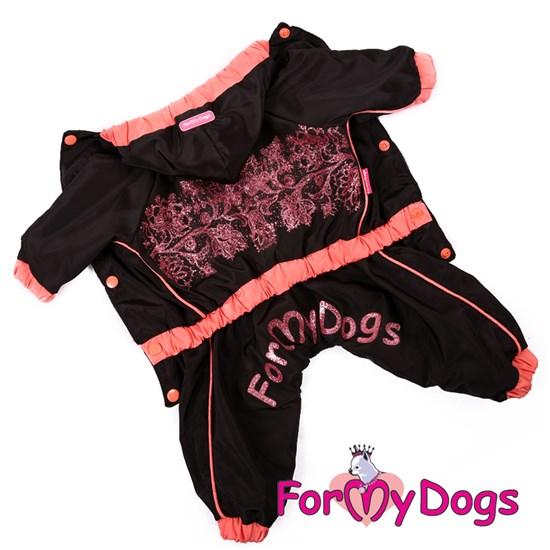 Дождевик черно/розовый, для девочек, р-р 10