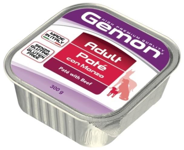 Gemon Adult Beef ламистер для собак всех возрастов и пород с говядиной паштет 300гр