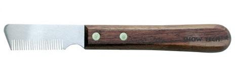 Шоу Тач Тримминговочный нож 3280 с деревянной ручкой д/шерсти средней жесткости