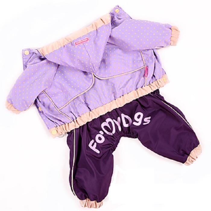 ForMyDogs 8 дождевик д/мальчиков фиолетовый